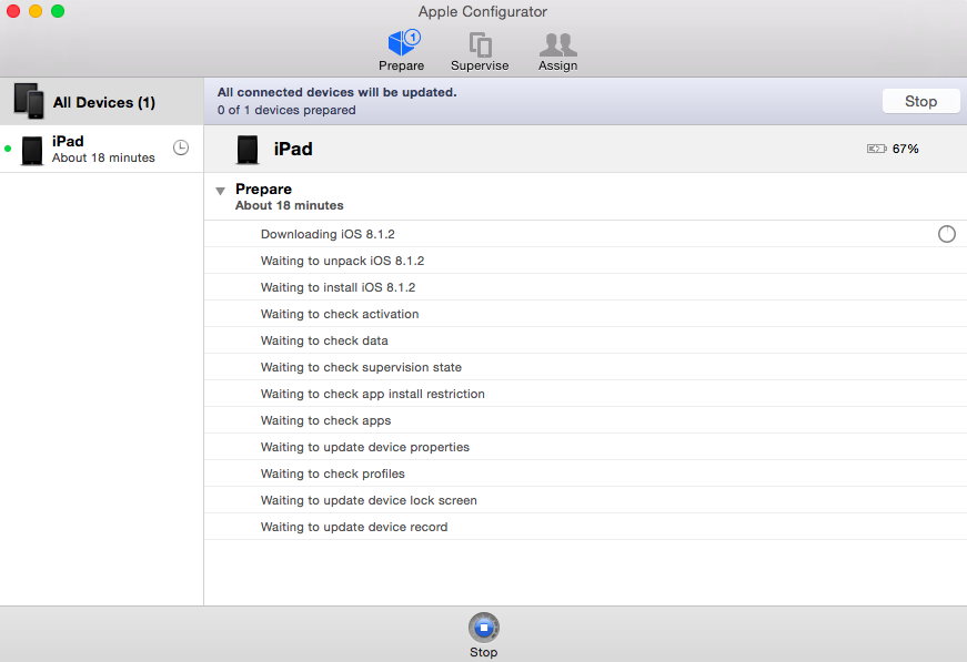 Deploying iPads with Apple Configurator, the Device